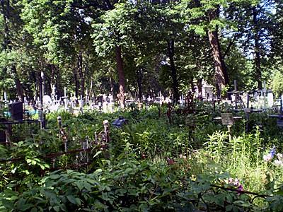 На этих старых участках в одной из двух братских могил покоится Голицын.