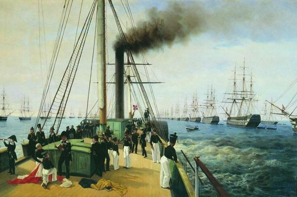 Высочайший смотр кораблей Балтийского флота в 1848 году