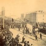 Похороны жертв революционных событий 1906 года.