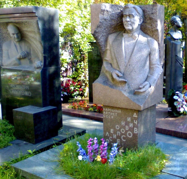 Место погребения Леонида Осиповича Утесова на Новодевичьем кладбище