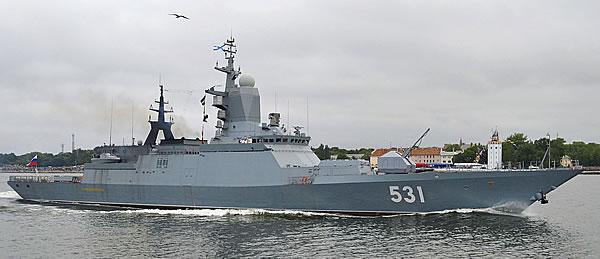Корвет «Сообразительный» в прошлом году вошел в состав ВМФ РФ.