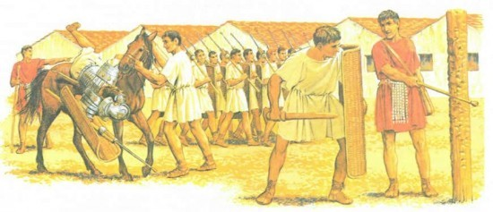 Во второй половине II в. до н. э. римская армия начала постепенно комплектоваться добровольцами из бедных классов, образуя, таким образом, армию профессиональных солдат вместо прежней милиции.