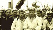 Гардемарины Севастопольского Морского корпуса на крейсере - морская практика 1916 год
