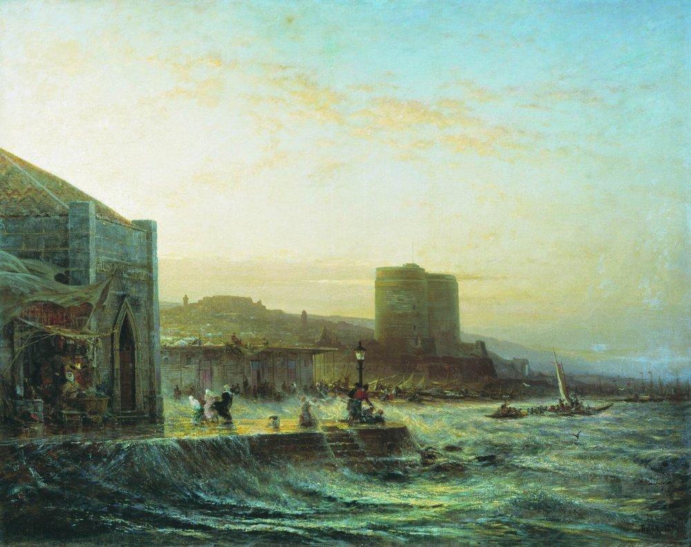 Алексей Боголюбов - Вид Баку. 1874 г.