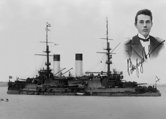 Броненосец «Князь Суворов».Потоплен японскими миноносцами четырьмя выпущенными в упор торпедами.