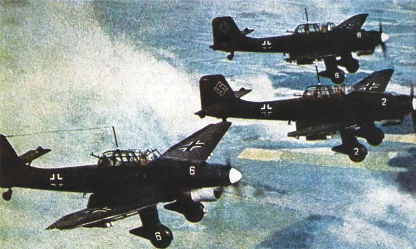 Пикирующие бомбардировщики Ю-87