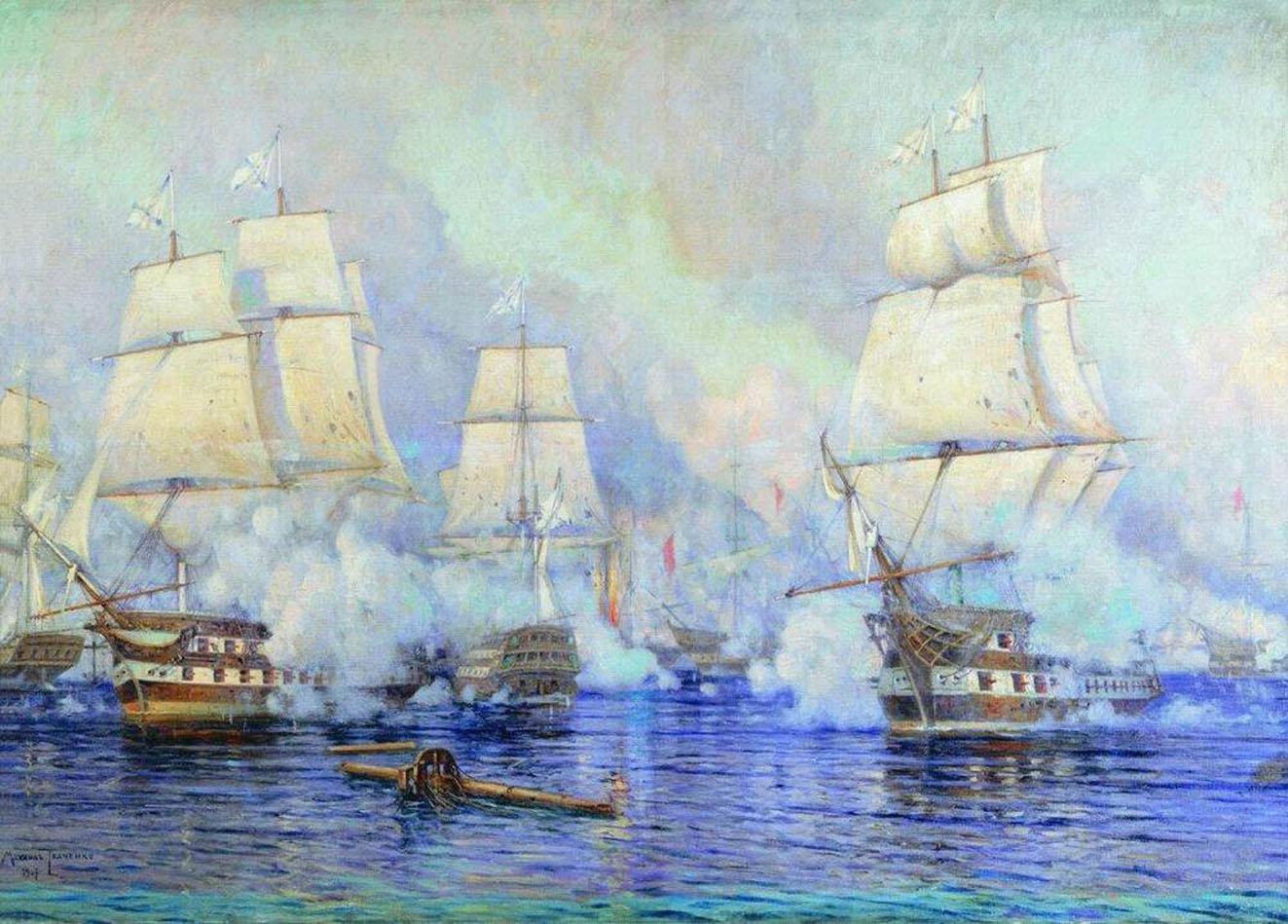 Победа русского флота сражении при Дарданелах