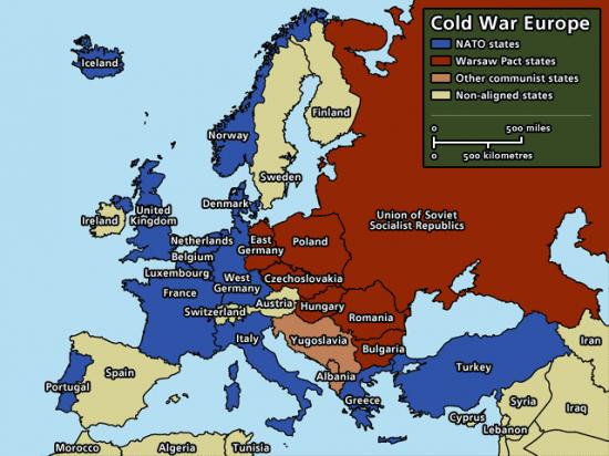 """Европа. """"Холодная война""""."""