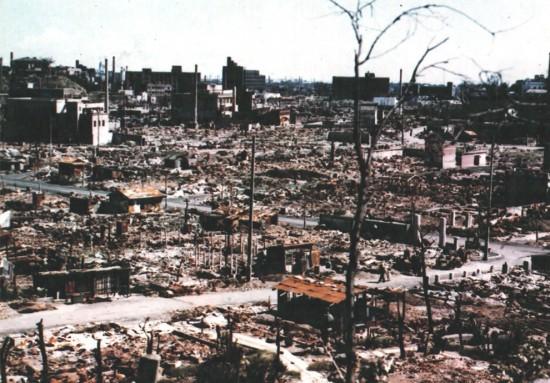 Хиросима после атомной атаки американцев