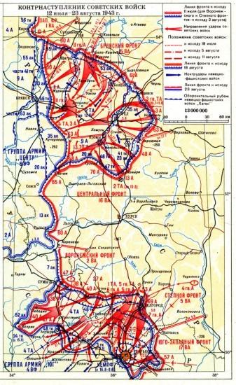 Контрнаступление советских войск в ходе Курской битвы
