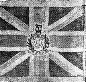 На картинке трофейное знамя