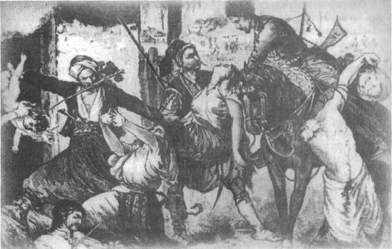 Зверства турок на Балканах