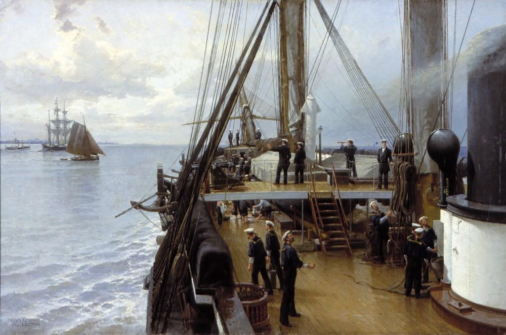 Беггров А.К. (1841-1814). На палубе фрегата «Светлана». Центральный военно-морской музей, Санкт-Петербург.