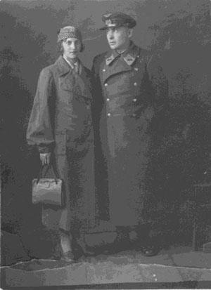 С женой Шурой в отпуске, 1942