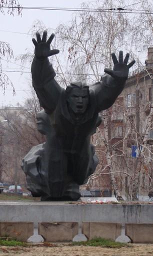 Памятник Михаилу Паникахе в г. Волгограде