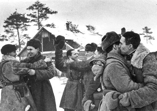 Прорыв блокады Ленинграда. Встреча войск Ленинградского и Волховского фронтов у Ропши