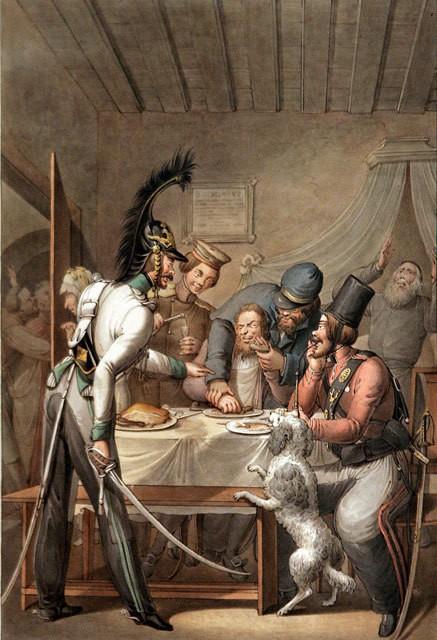 Казаки в Париже. 1814 год.