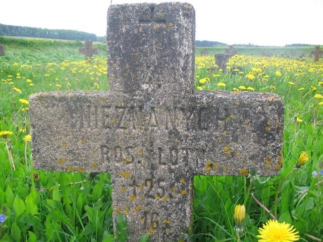 Крест, установленный поляками на месте гибели русских летчиков