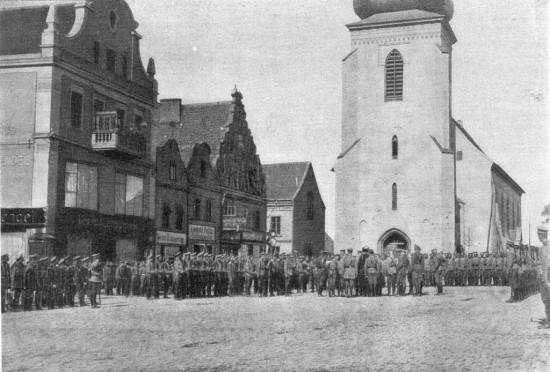 Парад Кавалергардского полка и Конной гвардии в Инстербурге.