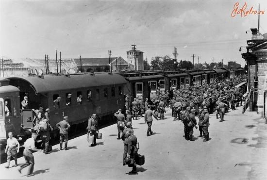 Немецкие войска в Крыму. Железнодорожная станция г. Джанкой.
