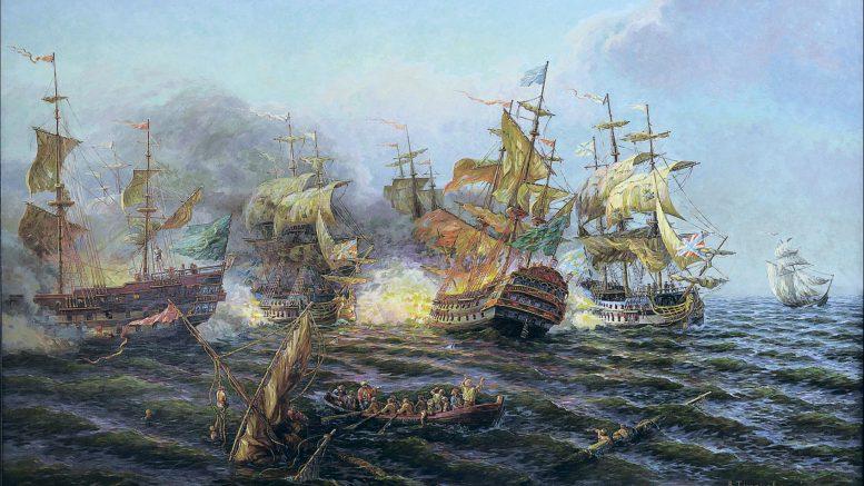 Керченское сражение. 8(19) июля 1790 г. Художник – В. И. Тихоновский.