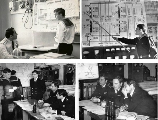 На экзаменах по дисциплине «ЭЛТ и ЭОК». КВВМПУ, 1970-е годы.
