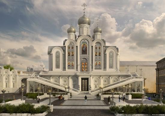 Проект нового храма Сретенского монастыря. Мастерская Д. Смирнова.