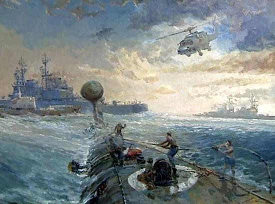 Всплытие советской АПЛ у берегов Америки