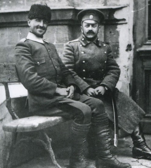 Пленный турецкий офицер