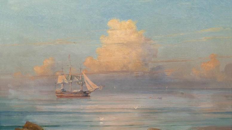 Иван Константинович Айвазовский - Морской вид. 1899 г.
