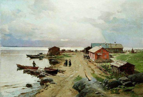 """""""Берег в окрестностях Гапсаля"""", 1897 г."""