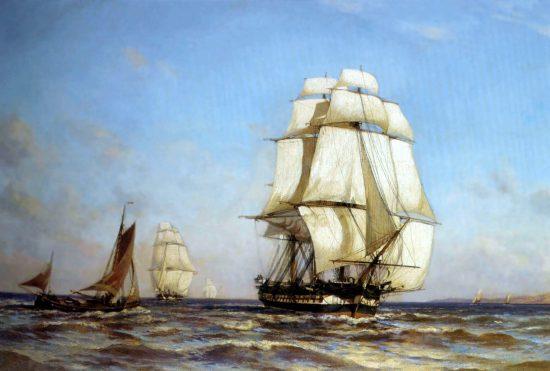 """""""Фрегат Меркурий"""", 1879 г."""