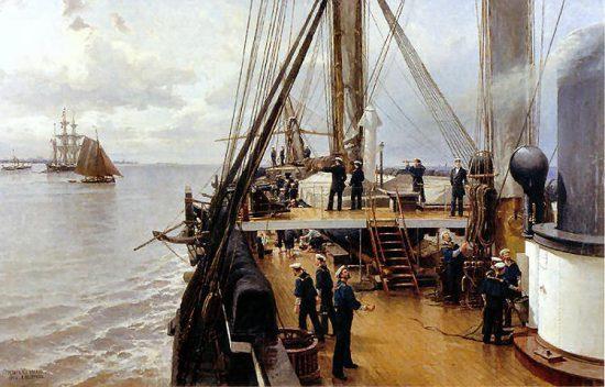 """""""На палубе фрегата """"Светлана"""". 1884 г."""