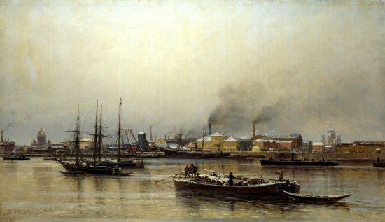"""""""Набережная Невы"""", 1876 г."""