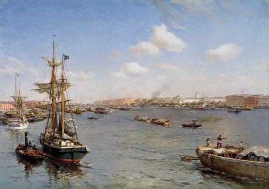 """""""Петербург. Вид на Неву"""", 1912 г."""