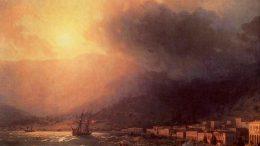 Иван Константинович Айвазовский — Вид Ялты к вечеру. 1860-е.