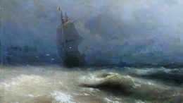 Иван Константинович Айвазовский — Буря у берегов Ниццы 1885 г.
