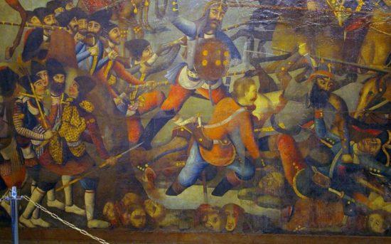 Бой персов с русскими. Неизвестный персидский художник начала XIX века Фото: репродукция картины/Родина