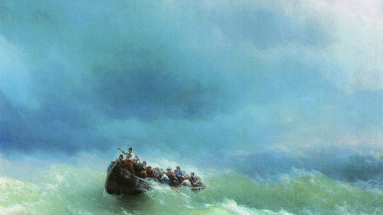 Иван Константинович Айвазовский — В бурю 1872 г.