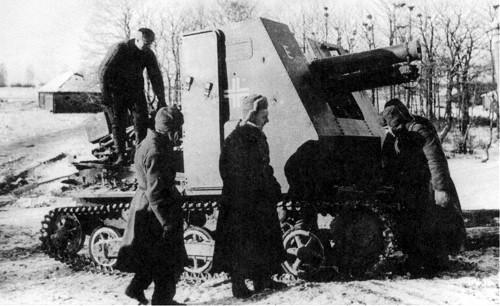 Sturmpanzer I захваченный воинами Р.К.К.А. в 1941 году под Москвой