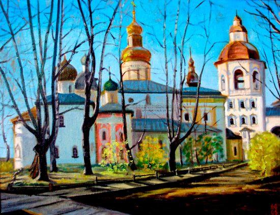 В Кирилло-Белозерском монастыре. х.м. 55х70. 2005 г.