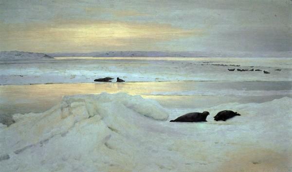 С картины А.Борисова «Весна полярной ночи», 1897 г. Из фондов Третьяковской галереи.