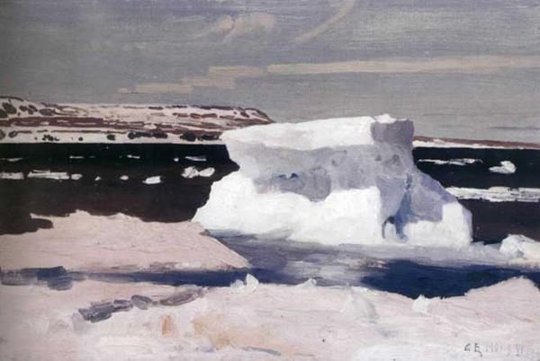 С картины А.Борисова «Карское море. Вид Новой Земли» 1901 г.