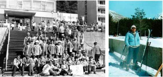 Слева – на армейской турбазе «Красная Поляна». Сентябрь 1975 года; справа – В. Левицкий на турбазе «Терскол». Март 1985 года. «Уголок туриста»