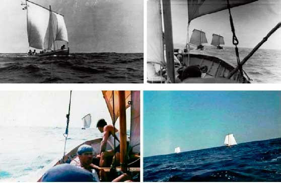 Под парусами на Днепре и в Чёрном море. Июль 1975 года.