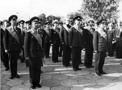 Команда КВО на Холме Славы. Киев, сентябрь 1977 года.