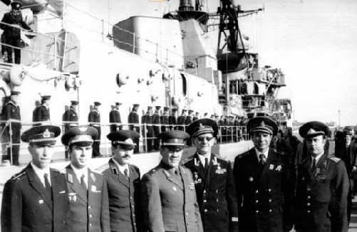 Передача эстафеты команде Черноморского флота. Одесса, сентябрь 1977 года.