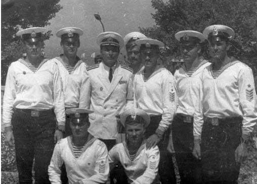 Команда шлюпки № 2 в Севастополе. День ВМФ СССР, 29 июля 1975 года.