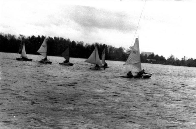 1979 год Косинская регата на озере Белое