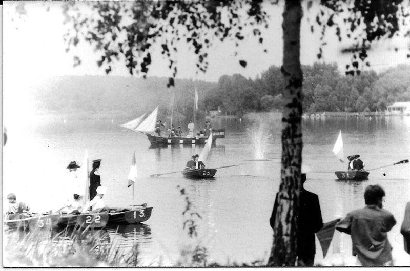 1989 год. Реконструкция на озере Белое морского боя у мыса Гангут